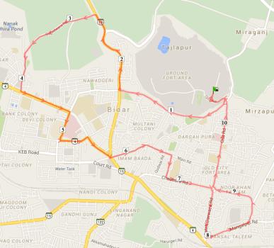 10.5km Route