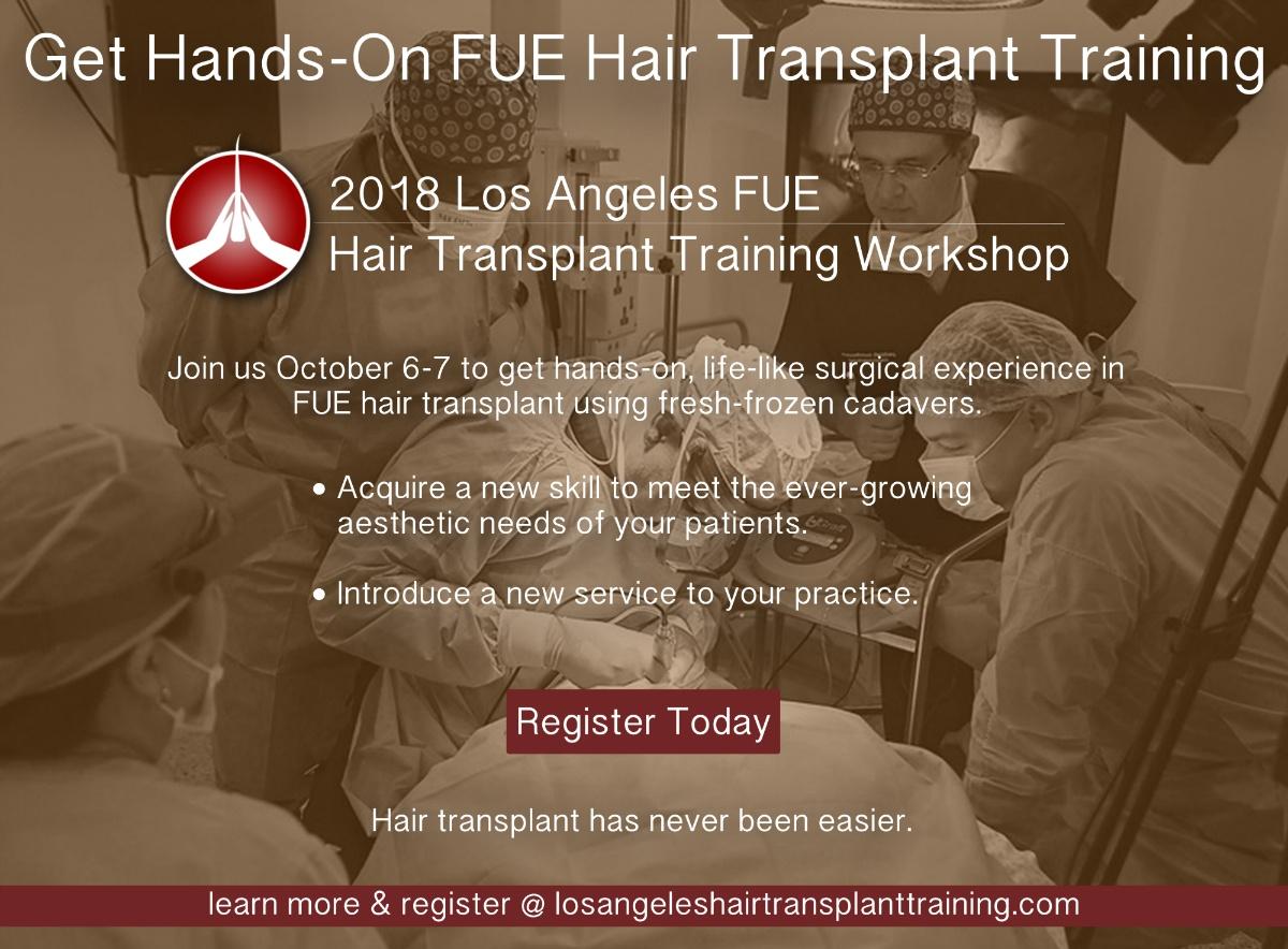 hair transplant training workshop los angeles