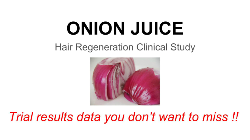 onion juice hair regrowth