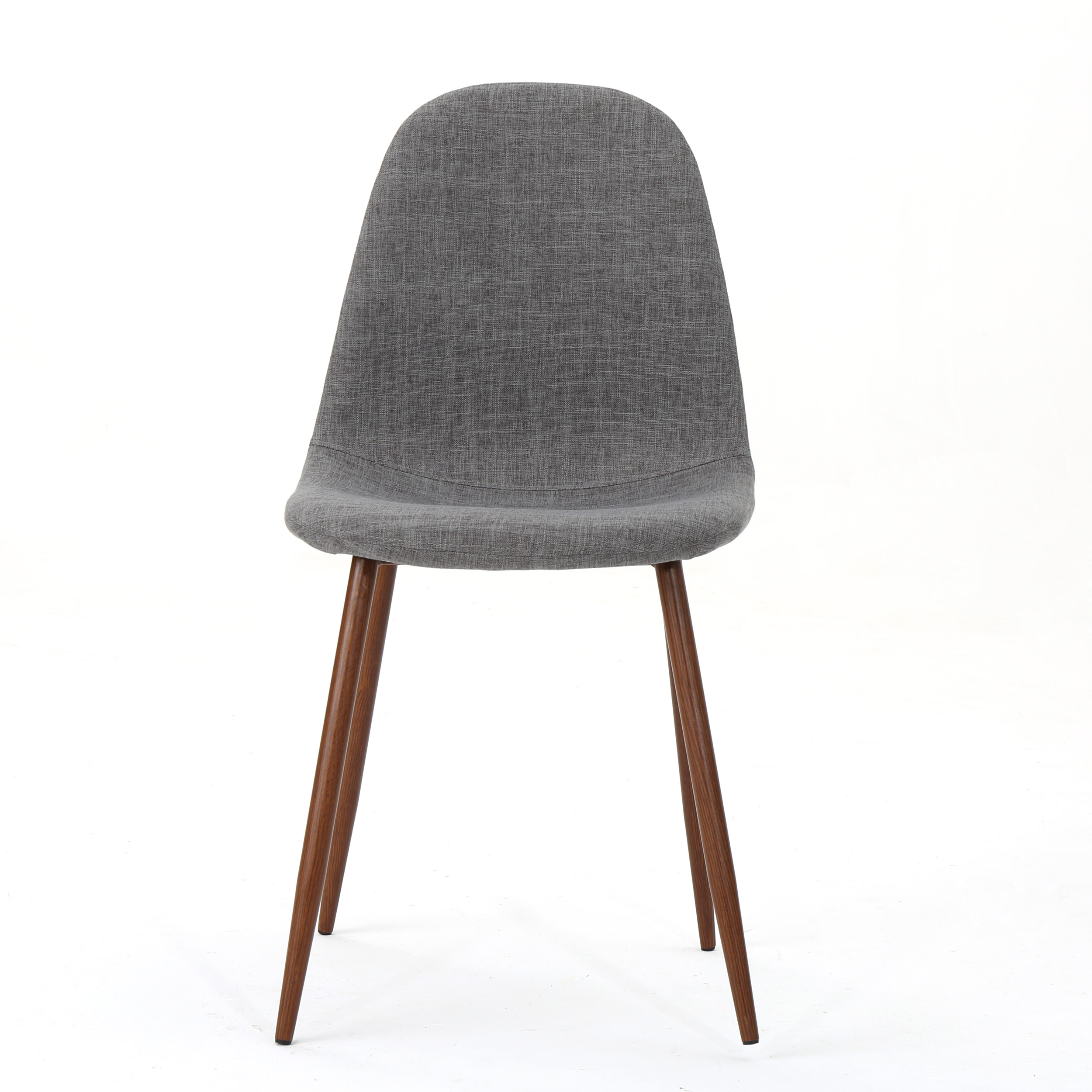 Details About Resta Mid Century Fabric Dining Chairs With Wood Finished Metal Legs Set Of 2