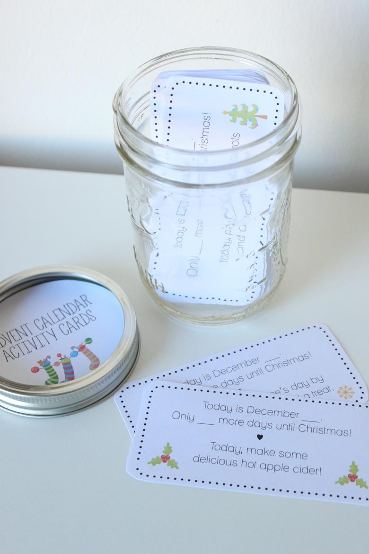 Such a fun way to countdown Christmas!!Printable Advent Calendar Activity Cards | Mama Papa Bubba