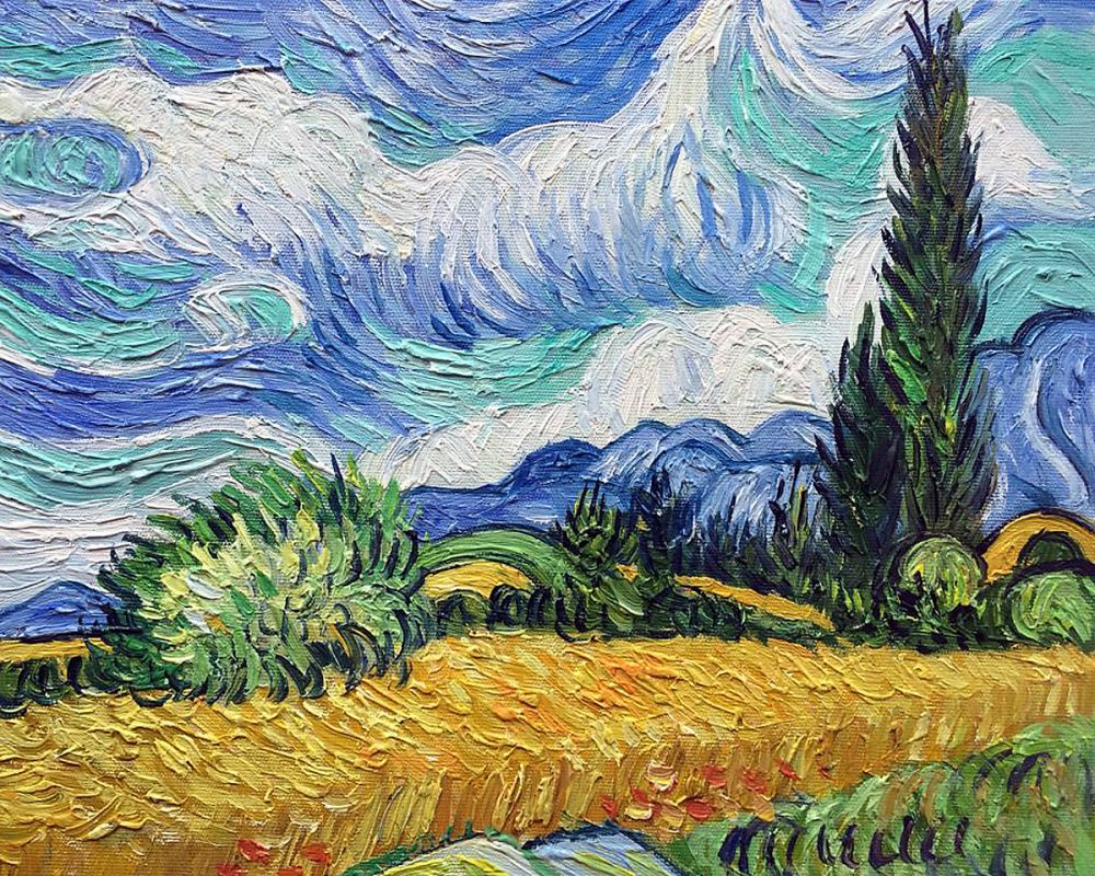 Wheat Field With Cypresses Canvas Art Amp Reproduction Oil