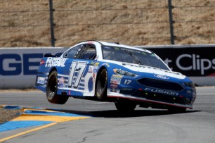 Monster Energy NASCAR Cup Series driver Ricky Stenhouse Jr. (17) takes turn 4 at the Toyota/Save Mart 350 at Sonoma Raceway in Sonoma, Calif., on Sunday, June 24, 2017.