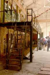 The 116-year-old dilapidated Geneva Car Barn and Powerhouse opened for the first time in 28 years for a press conference on renovating it in San Francisco, Calif., on Thursday, July 6, 2017.