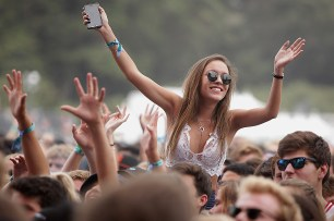 Fans cheer as Tove Lo performs at the Outside Lands Music Festival at Golden Gate Park in San Francisco, Calif., on Friday, August 11, 2017.