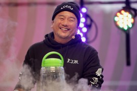 Chef Roy Choi gives a cooking demo at the Outside Lands Music Festival at Golden Gate Park in San Francisco, Calif., on Saturday, August 12, 2017.