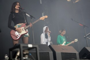 Warpaint performs at the Outside Lands Music Festival at Golden Gate Park in San Francisco, Calif., on Saturday, August 12, 2017.