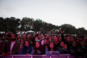 Fans enjoy the performance by Bomba Estereo at the Outside Lands Music Festival at Golden Gate Park in San Francisco, Calif., on Saturday, August 12, 2017.
