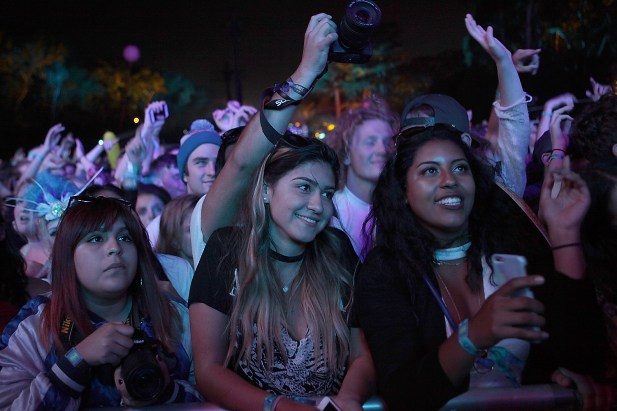 Fans enjoy Empire of the Sun as they perform at the Outside Lands Music Festival at Golden Gate Park in San Francisco, Calif., on Saturday, August 12, 2017.