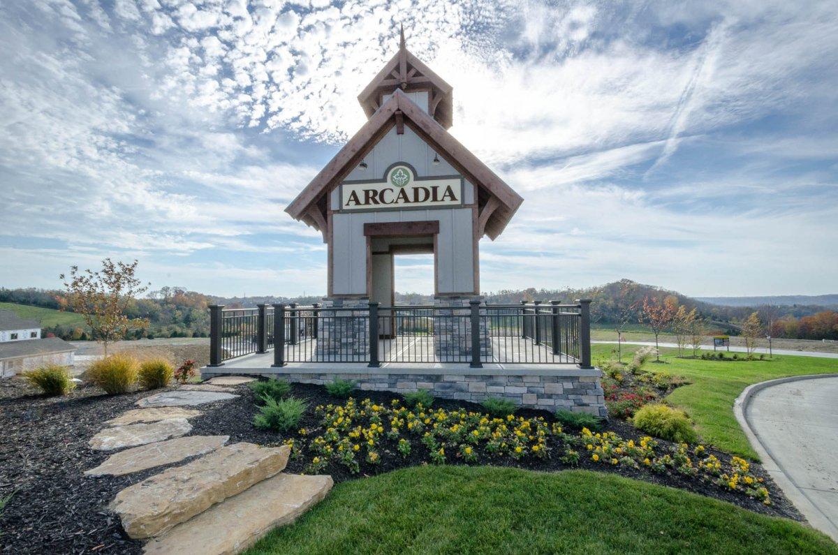 Alexandria, KY New Patio Homes - The Shire at Arcadia ... on Arcadia Backyard Designs id=18004