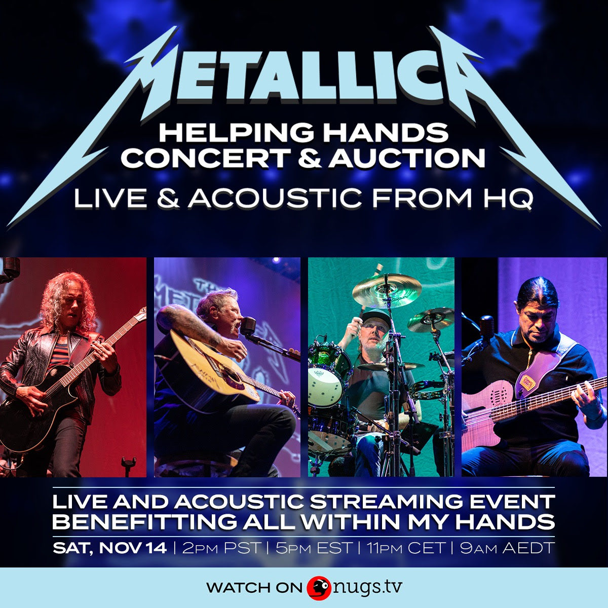 Metallica Announce Acoustic 'Helping Hands' Streaming Benefit Show