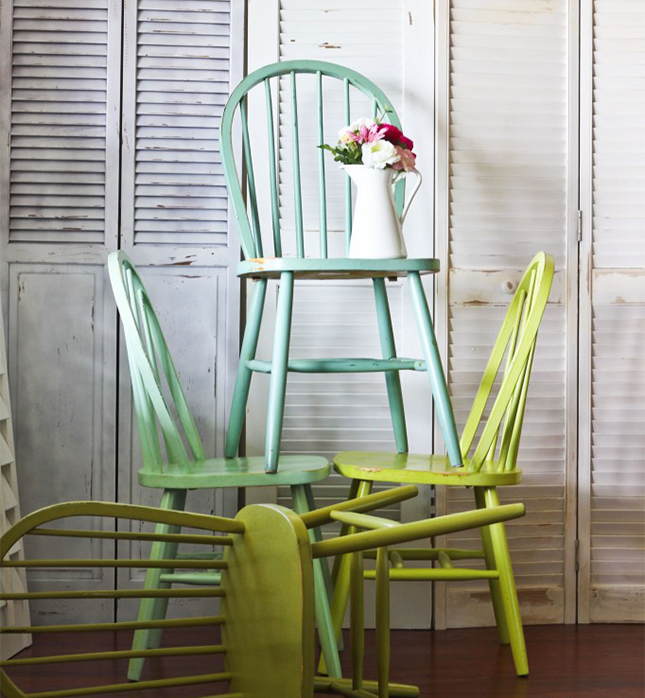 ombre windsor chair