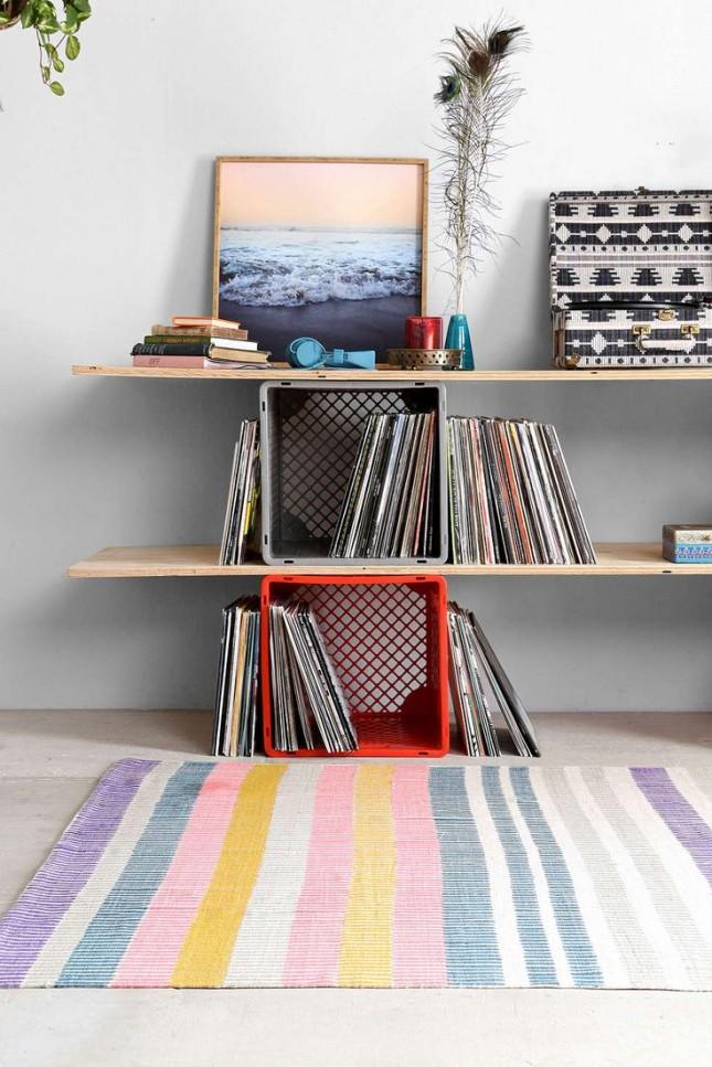 painted stripe rug