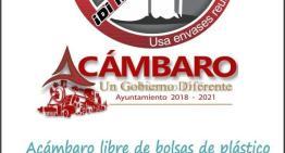 Desde el 1 de noviembre,  ya no habrá bolsas de plástico en Acámbaro