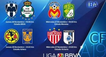 Horarios de las Semifinales del Futbol Liga MX