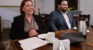 La Diputada Maru Espinosa se reunió con la prensa de la región sureste
