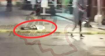 Tiran' cadáver en la esquina de Juárez y Pino Suárez de Acámbaro