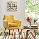 Clyde Mustard Yellow Linen Chair Tov Furniture