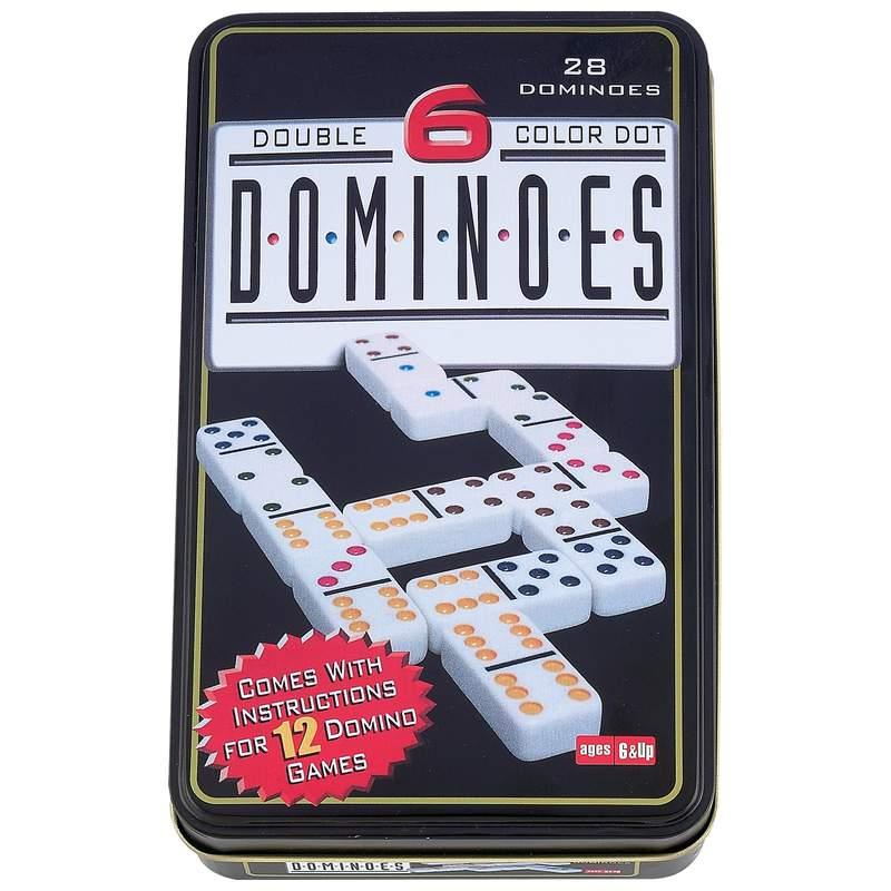 Wholesale 28pc Double 6 Color Dot Domino Set - Buy ...
