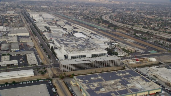 SpaceX office building in Hawthorne, California Aerial ...