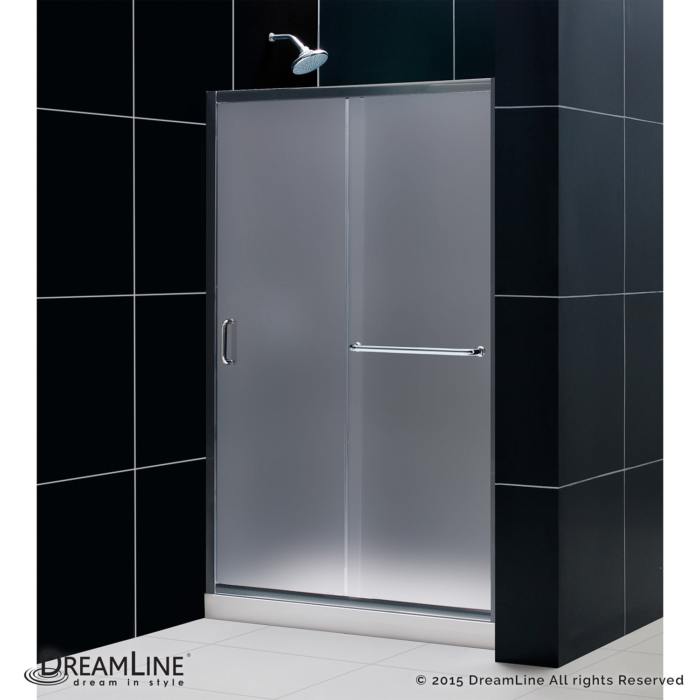 Details About Dreamline Shdr 0948720 01 Fr Infinity Z 44 48 Sliding Shower Door Chrome