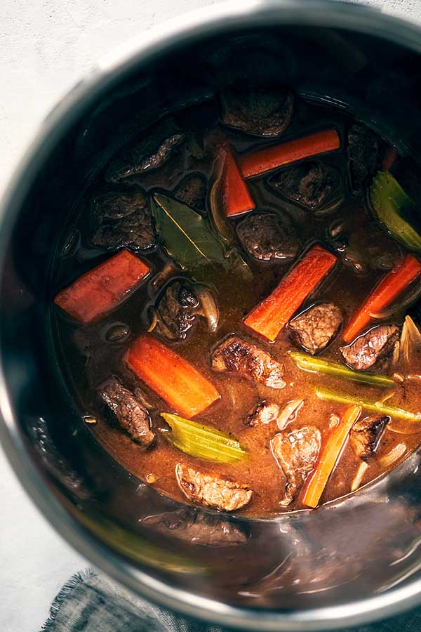 This Instant Pot Beef Stew recipe makes a rich, savory beef that cooks up in about 40 minutes featuring low-sodium beef broth, fresh veggies, and lean beef.