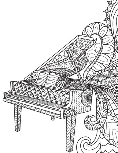 blank book journal piano music zentangle cover diary