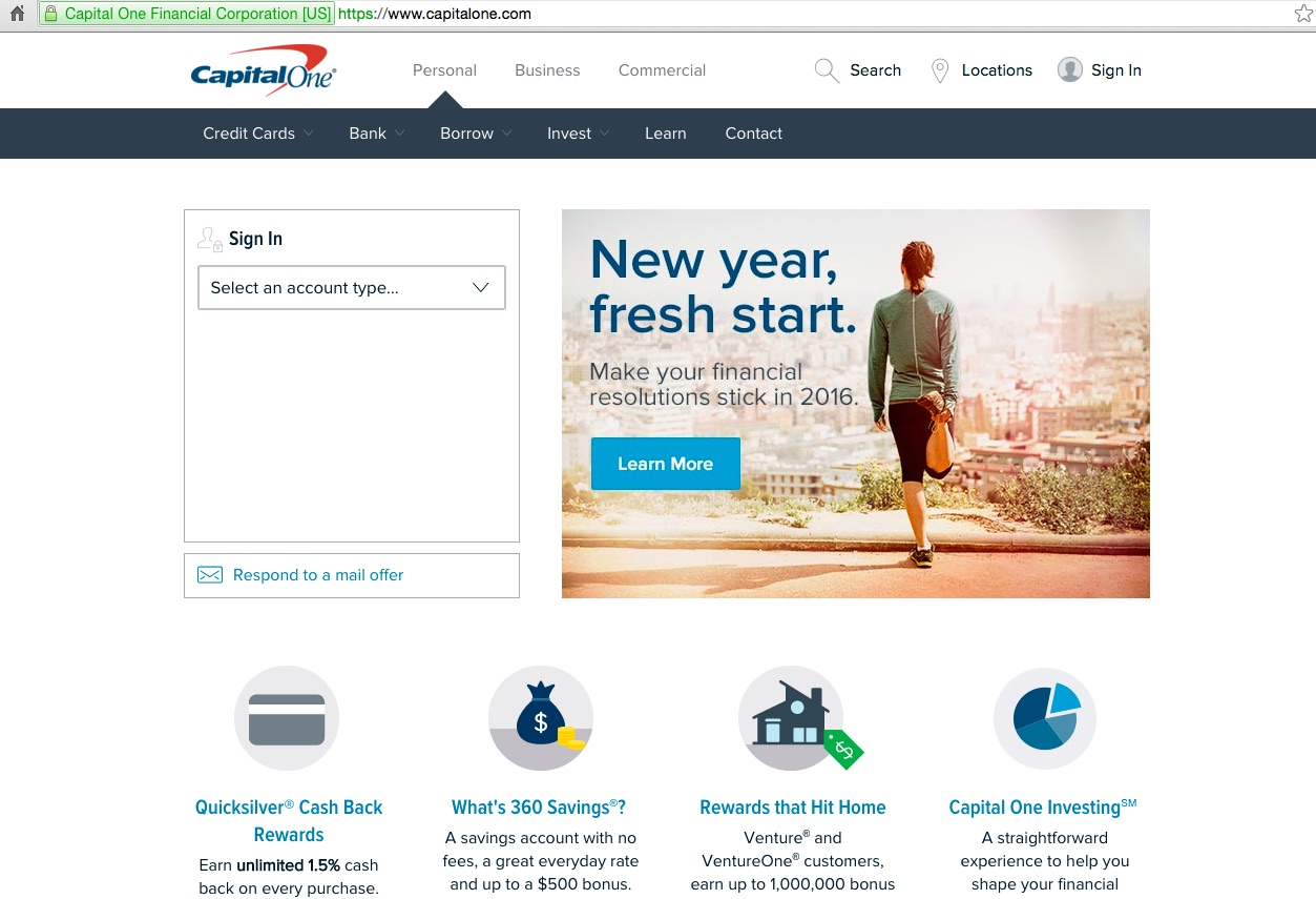 Capital One Bank Personal Loans