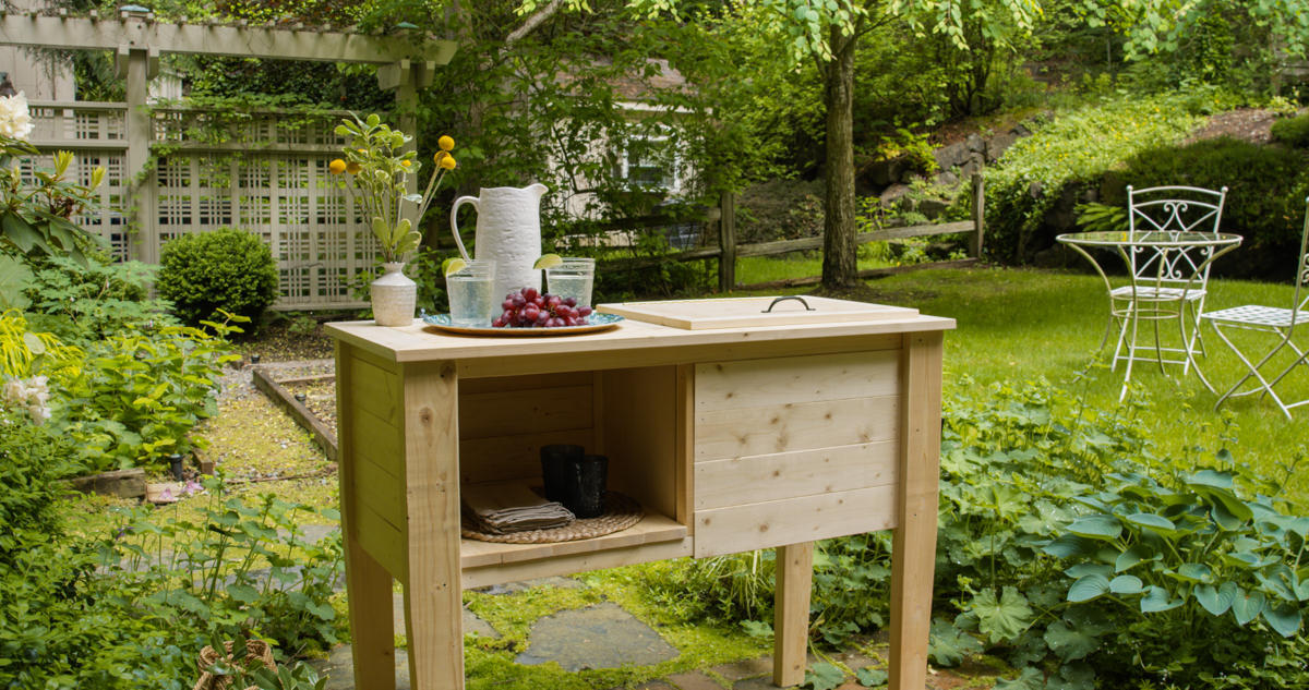 diy wooden cooler stand patio cooler