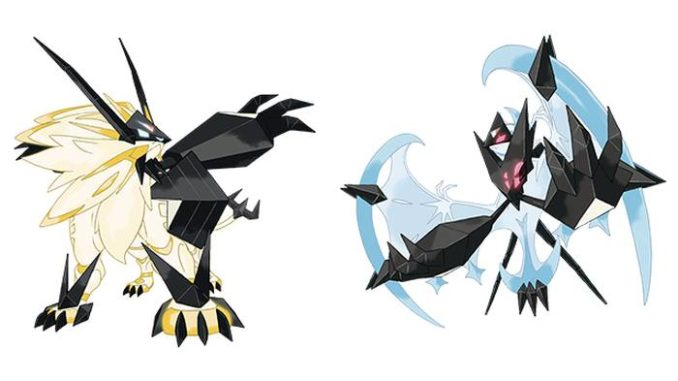 Pokemon Ultra Sun and Moon Solgaleo and Lunala