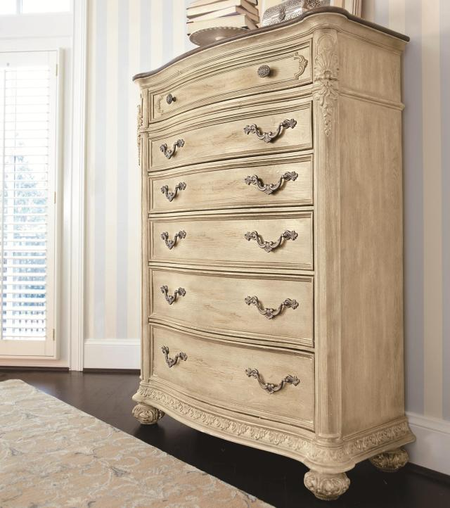 Drawer Chest with Foliage Molded Edges by American Drew