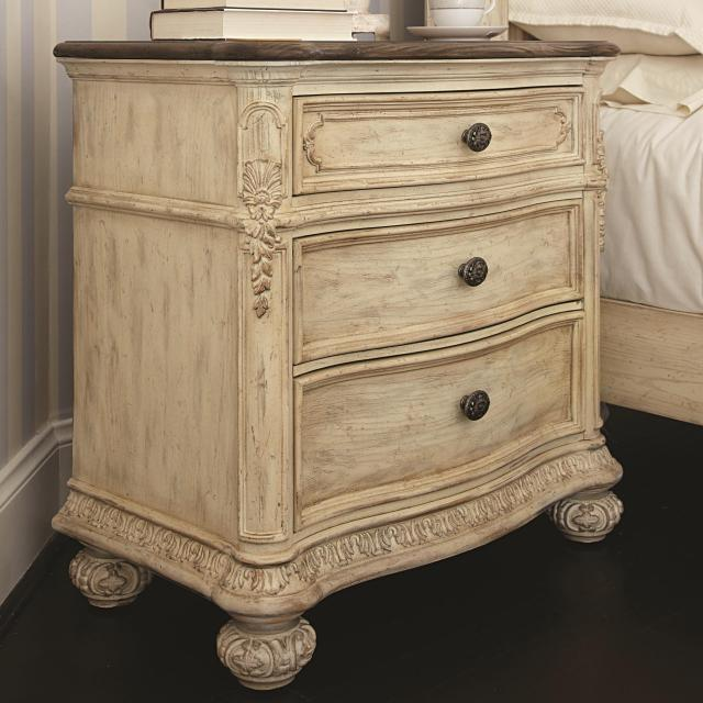 3 Drawer Nightstand with Acanthus Leaf Detailing by American Drew