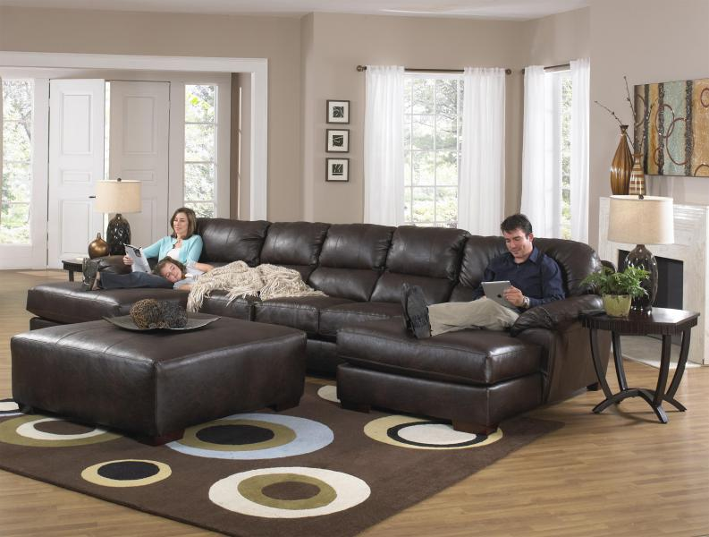 Two Chaise Sectional Sofa with Five Total Seats by Jackson Furniture     Two Chaise Sectional Sofa