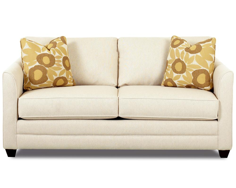 Small Sleeper Sofa With Full Size Mattress By Klaussner