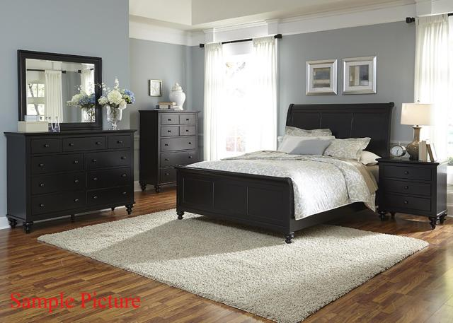 Transitional Queen Sleigh Bed by Liberty Furniture