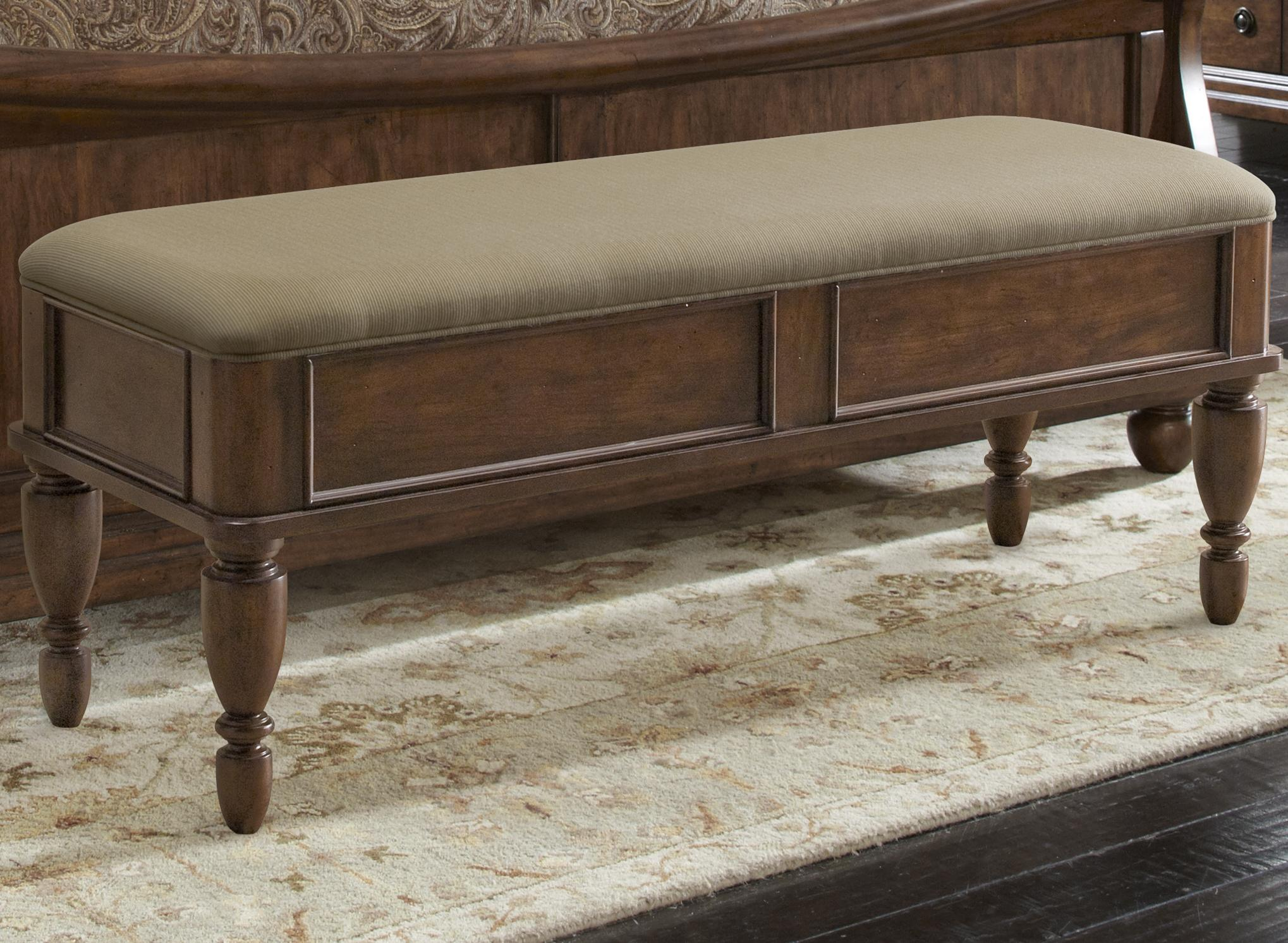 bed bench with upholstered seat by liberty furniture | wolf and