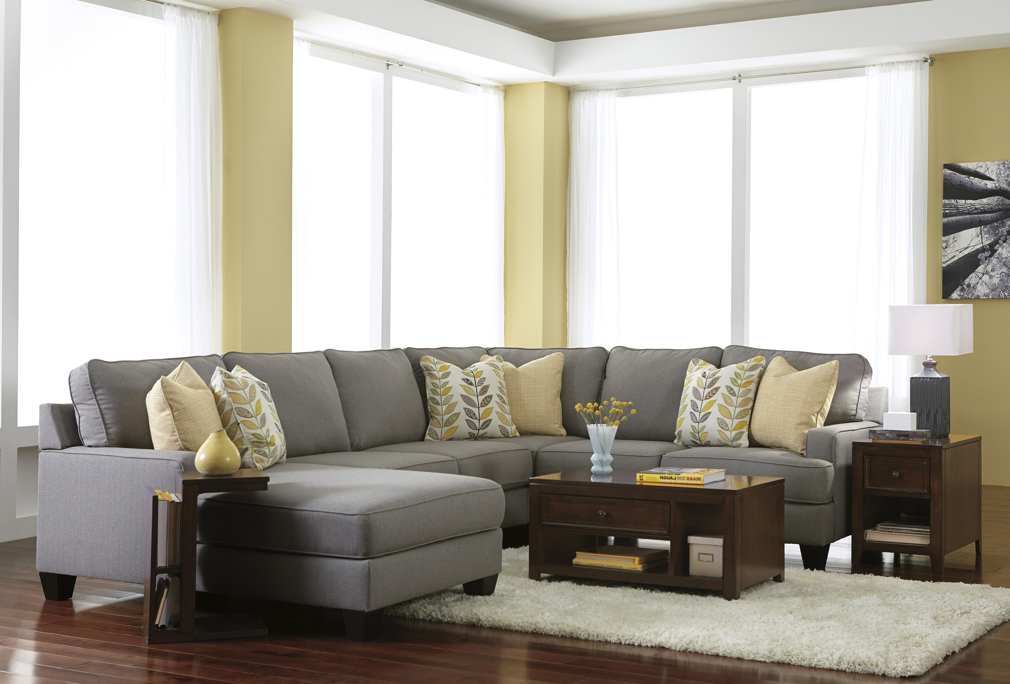 Modern 4 Piece Sectional Sofa With Left Chaise
