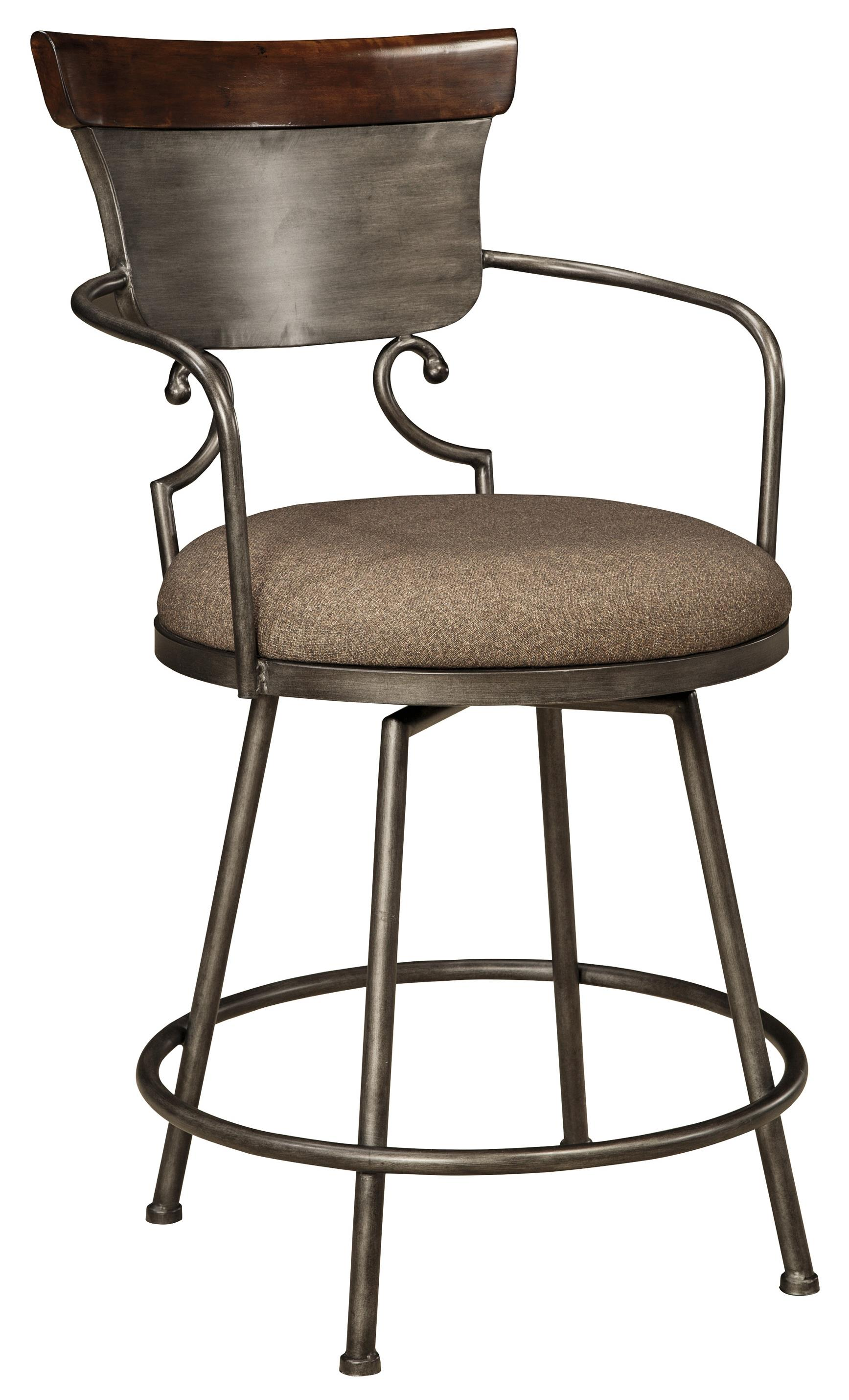 Upholstered Barstool With Metal Frame Amp Swivel Seat By
