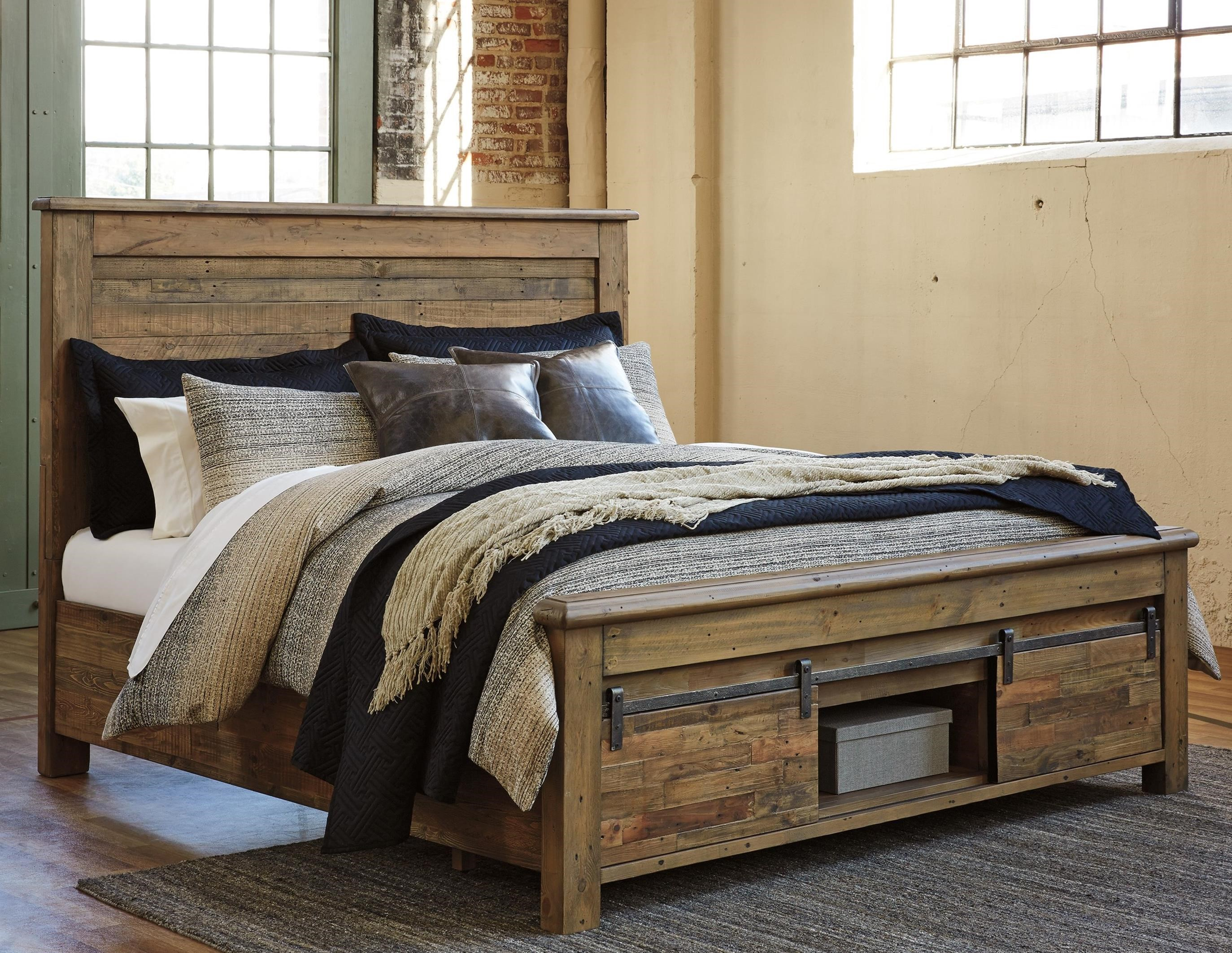 King Panel Storage Bed With Barn Doors By Signature Design