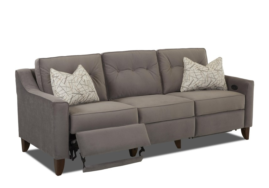 Contempory High Leg Power Recliner by Trisha Yearwood Home     Contempory High Leg Power Recliner      Power Reclining Sofa