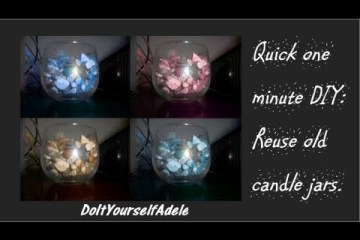 Fast 1 Minute DIY Repurpose Freecycled Old Candle Jars