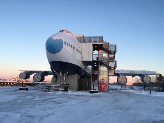 Jumbo Stay Hostel is hosted in an actual Boeing 747