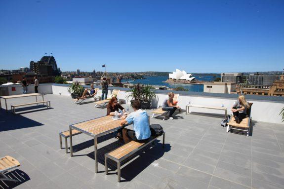 Sydney Harbour Hostel, Sydney Australia. Overlooking Sydney Harbour.