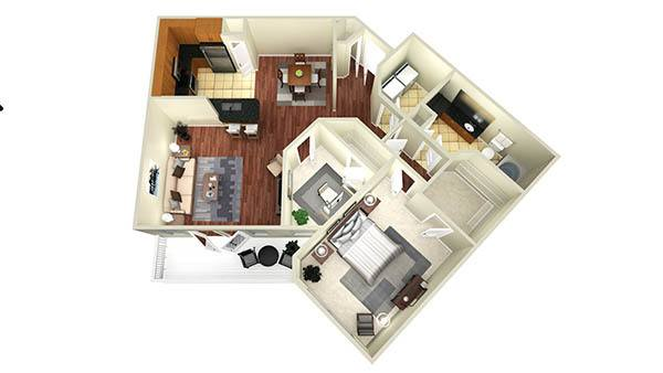 1 bedroom with study apartments in houston www for Study bed plans