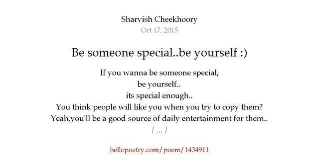 Special You Are Poems Someone