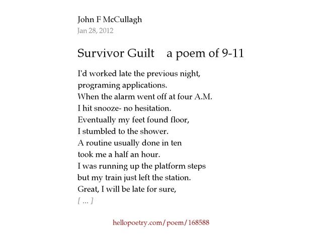 survivor s guilt poem poemsrom co