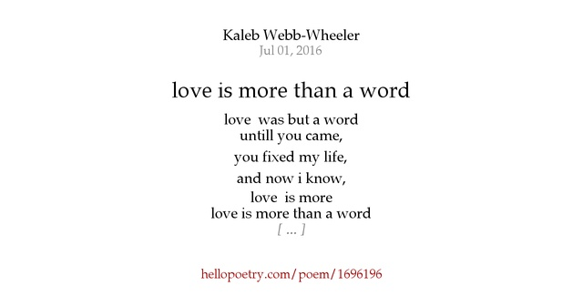 You And I Love Poem