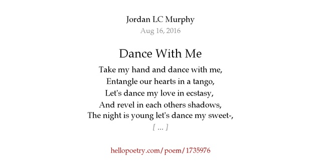 dance with me poem
