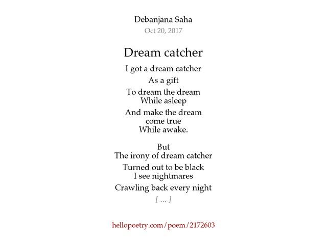 Short Dreamcatcher Poems Creativepoemco Stunning Dream Catcher Poem For Kids