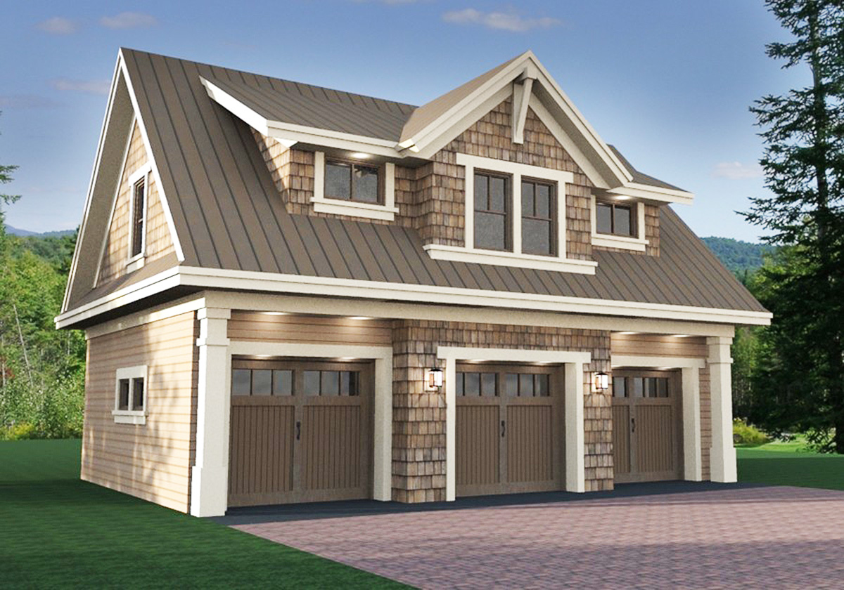 3 Car Garage Apartment With Class - 14631RK